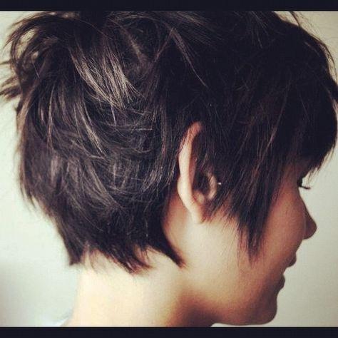 Choppy short hair