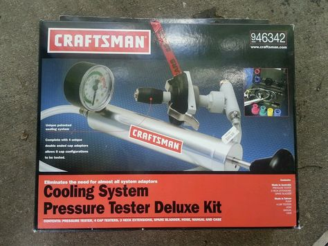 Craftsman Cooling System Pressure Tester Deluxe Kit Nos New