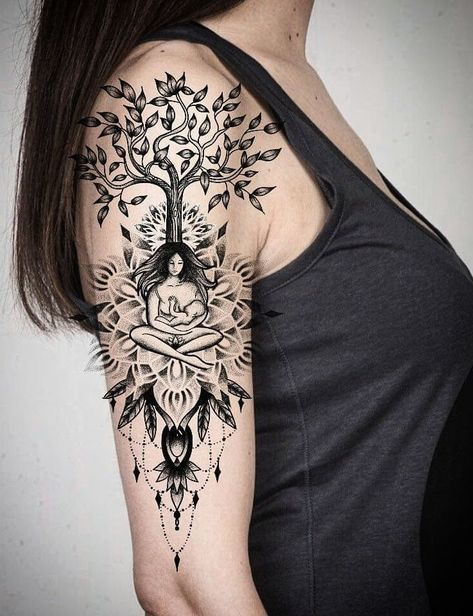37 Ideas For Mother Nature Tattoo Goddesses Gaia In 2020 Mother Tattoos Mother Nature Tattoos Mom Tattoos
