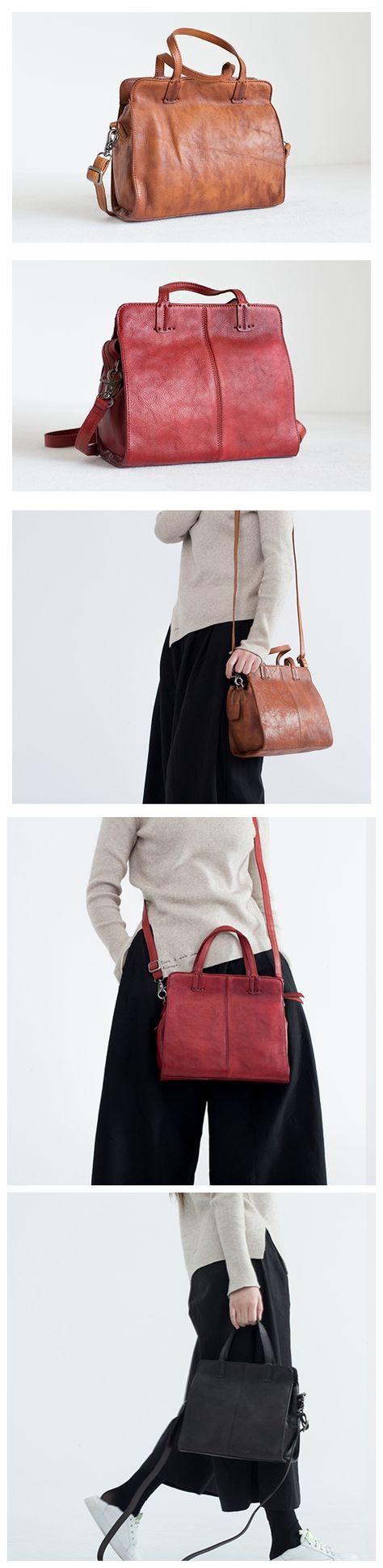 ed70b8a87c Handcrafted Full-Grain Leather Handbag Shoulder Bag Crossbody Bag Small  Satchel for Her SP02 -