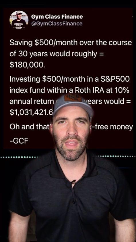 Invest $500 / month
