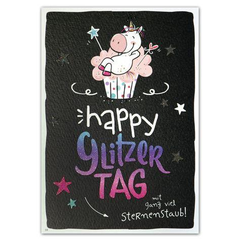 Hope & Gloria Postkarte »Glitzertag«