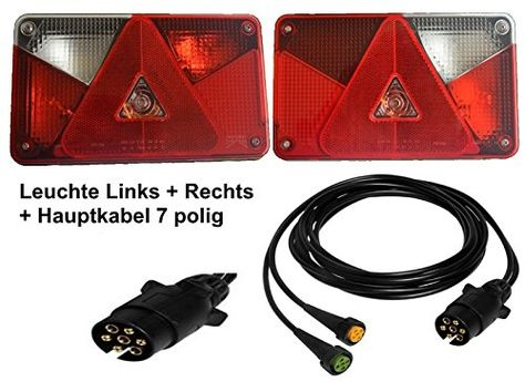 13-polig Stecker 2 x 3,0m Abgang DC Kabelbaum Asp/öck Anh/ängerkabel 5m