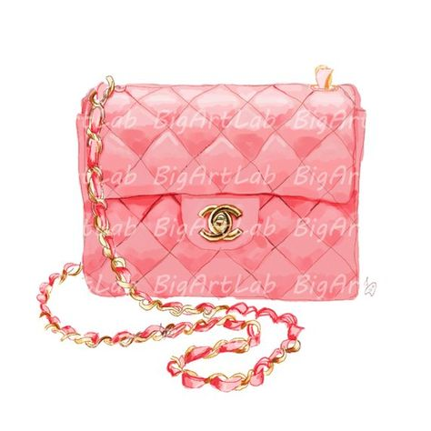 Instant Download Clipart Bag Chanel Fashion Illustration Digital