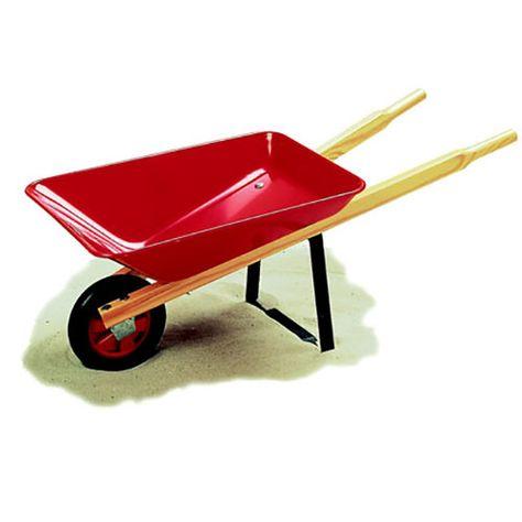 Garden Wheelbarrow Brightly Coloured Metal Wheelbarrow With Hard Wearing Paint And Varnished Wooden Handles For Maxim Wheelbarrow