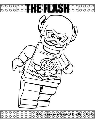 ausmalbild lego flash  kinder ausmalbilder