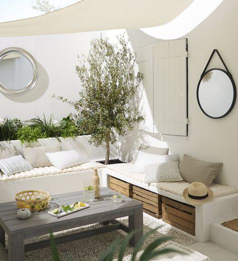 Terrasse Entree exterieur / Abords Blanc / Beige / Naturel ...