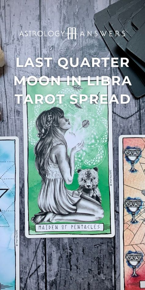 The last quarter Moon in Libra is here to bring balance and justice to our world. ♎ This Tarot spread has been created to help us find a new equilibrium, perspective, and release negative energy between the New Moon and Full Moon. #tarot #tarotspread #lastquartermoon #moontarot #libramoon #libramoontarot #libratarot #astrologtarot