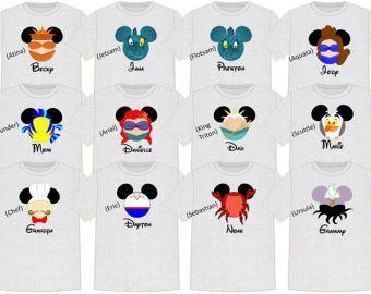 8e541f88de0b1 Disney Shirt LITTLE MERMAID Disney Vacation Disney Group Shirts ...