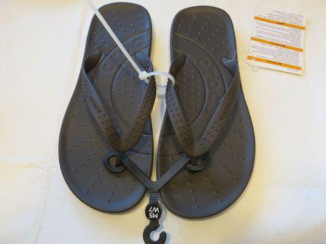 42bd3373f9f67 Crocs chawaii flip relaxed fit M10 W12 flip flops sandals thong navy blue   Crocs  flipflops