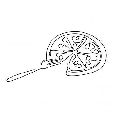 Continuous Line Drawing Of Pizza Food Minimalism Design Vector Illustration Pizza Clipart Illustration One Line Png And Vector With Transparent Background Fo Continuous Line Drawing Line Drawing Minimal Drawings