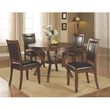 Amazing Coaster Company 48 Round Nelms Dining Table Deep Brown In Short Links Chair Design For Home Short Linksinfo