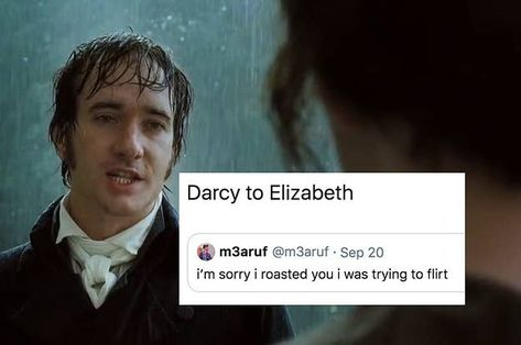"18 Of The Funniest Pride And Prejudice Jokes - - Mr. Darcy: ""Excuse me. I am tall. I am heterosexual. I have anxiety. I'm new in town. Pride And Prejudice Quotes, Pride And Prejudice 2005, Film Anime, Mr Darcy, Classic Books, Classic Book Quotes, Classic Memes, Classic Literature, Book Memes"