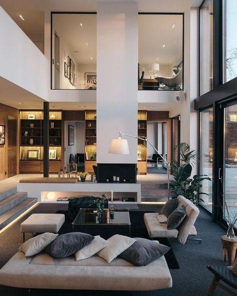 Idée décoration intérieur maison - déco salon moderne contemporain tendance