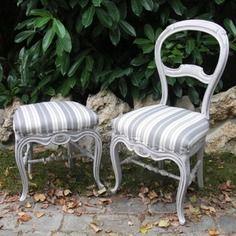 Chaise Louis Philippe Et Tabouret Patines Peindre Des Meubles Anciens Mobilier De Salon Relooking De Mobilier