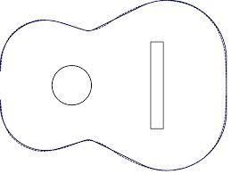 image relating to Printable Guitar Templates referred to as Picture consequence for printable guitar template Appliques