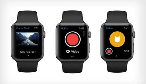 GoPro iOS Application is now supported Apple Watch