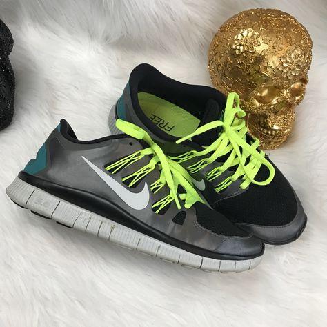 Nike Shoes | Nike Free Run 5.0 Metallic Neon Running Shoes