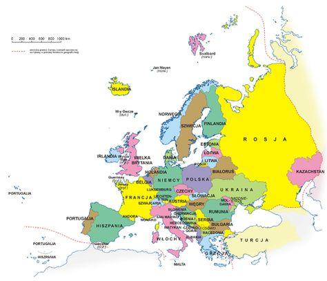 Panstwa Europy Wikipedia Wolna Encyklopedia Europa Mapy