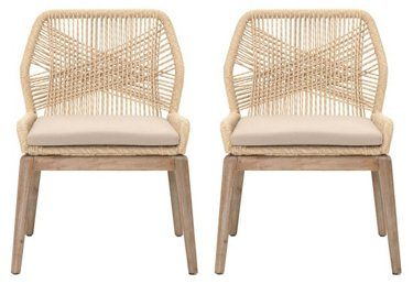 Set Of 2 Easton Side Chairs Natural Now 749 50 Was 940 00 In