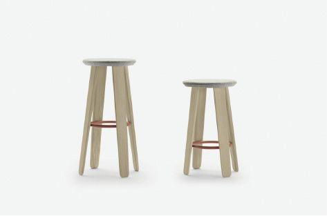 Alki Triku Upholstered Stool Modern Counter Stools Counter