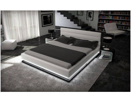 Simplistic Bett Mit Led Beleuchtung 140x200 Designer Bett Bett 200x200 Bett Modern