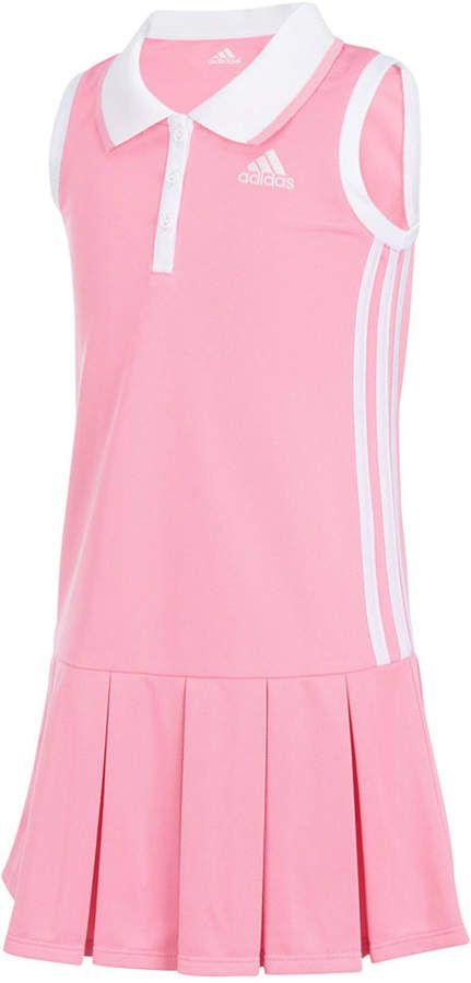 Adidas Twirl Polo Dress Toddler Girls Kids Tennis Dress Tennis Dress Polo Tennis Dress
