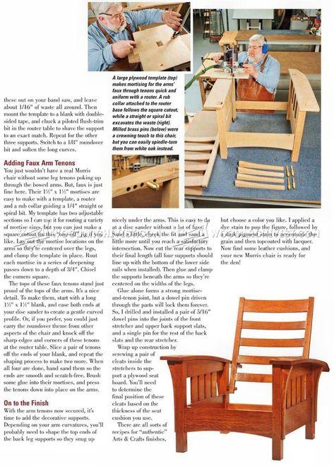 Classic Morris Chair Plans Furniture Plans Morris Chair Game