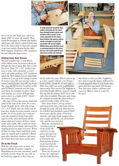 How To Build A Bow Arm Stickley Morris Chair Morris Chair