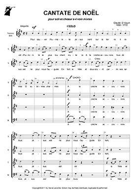 Cantate De Noel Partitions Noel Partition Noel Africain