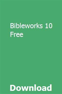 Bibleworks 10 Download