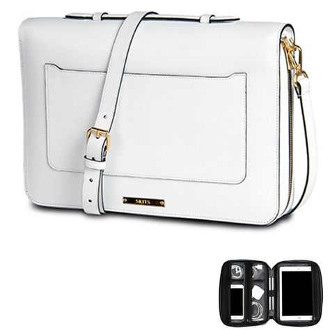 9b9bf9274037 Providence Brilliant Saffiano Leather Tablet and Cords Shoulder Bag ...