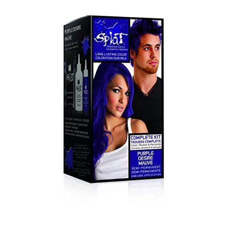 Beauty Hair Color Purple Semi Permanent Hair Dye Wash Out Hair