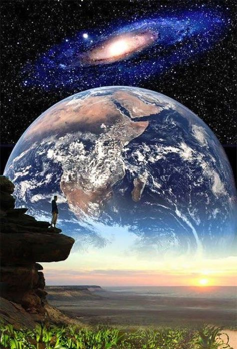 Earth Painting Original Oil Artwork Planet Wall Art Planet Art Earth Artwork Impsato Art Canvas Artwork Space Art 10 by 10/'/'