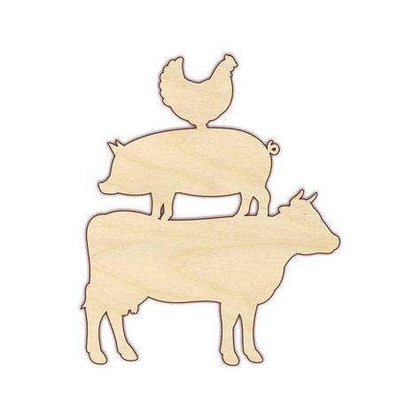 Wildlife Farmyard Animal 3mm MDF Cutout Design Crafting DIY Chicken