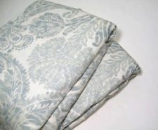 Pottery Barn Blueish Gray Samantha Damask King Cal King Duvet