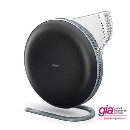 Iqair Atem Desk Personal Air Purifier Hyperhepa Filter Allergies Pets Asthma Pollen Dust Swiss Made Black In 2020 Personal Air Purifier Air Purifier Clean Air