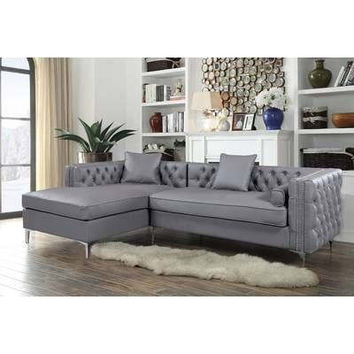 Willa Arlo Interiors Neysa Sectional Reviews Wayfair Grey Sectional Sofa Sectional Sofa Sectional Sofa Couch