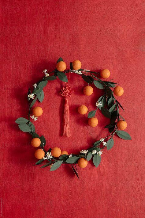 Lunar New Year Wreath by Alita Ong