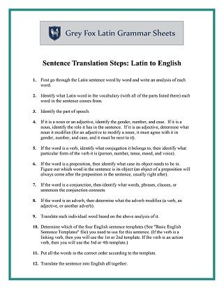 translate latin sentences to english for free