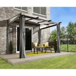 Charleston 16 Ft W X 10 Ft D Aluminum Patio Gazebo In 2020 Patio Gazebo Patio Awning Aluminum Patio