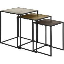 Beistelltisch 3er Set Cake Mehrfarbig Tische B In 2020 Side Table With Storage Table Storage