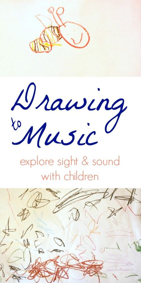 to music with children is one way to explore the ways in which we can perceive and interpret sounds visually.Drawing to music with children is one way to explore the ways in which we can perceive and interpret sounds visually. Music Lessons For Kids, Music Lesson Plans, Music For Kids, Art Lessons, Piano Lessons, Preschool Music Activities, Music Education Activities, Physical Activities, Piano Teaching