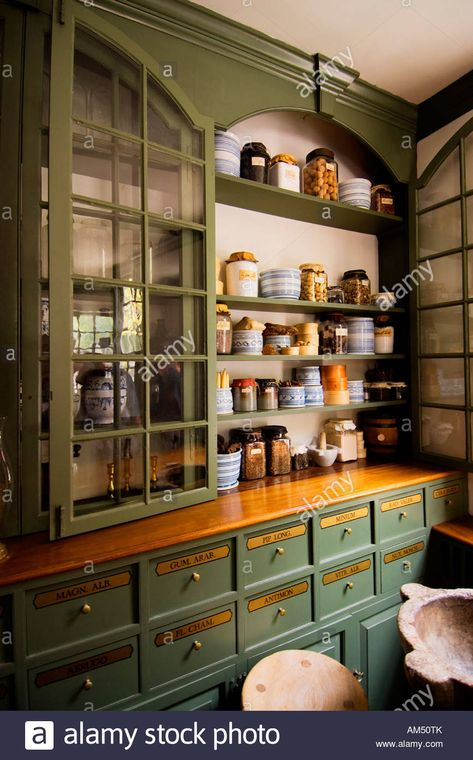 Pasteur & Galt Apothecary Shop, Colonial Williamsburg Stock Photo, Picture And Royalty Free Image. Kitchen Styling, Kitchen Decor, Kitchen Stuff, Apothecary Decor, Apothecary Cabinet, Colonial Kitchen, Kitchen Upgrades, Colonial Williamsburg, Shop Interiors