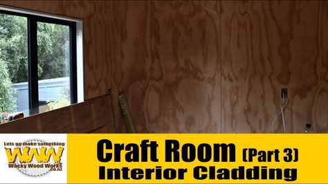 We finally start the interior cladding - Craft room build - Wacky Wood W...