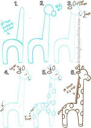 Giraffen Zeichnen Cartoon Formen Guide Basic Giraffen Zeichnung Karikatur Shapes Leite Drawing Videos For Kids Giraffe Drawing Cartoon Drawings