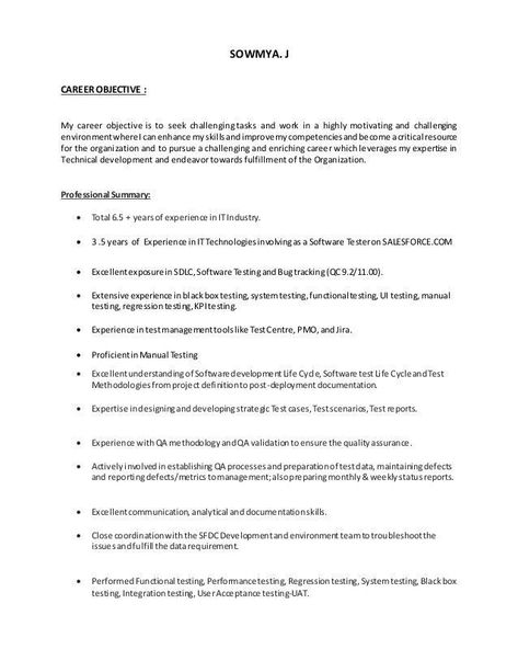 Qa Tester Resume No Experience Unusual Salesforce Testing Resume Of 25 Popular Qa Tester Resu Resume No Experience Job Resume Samples Resume