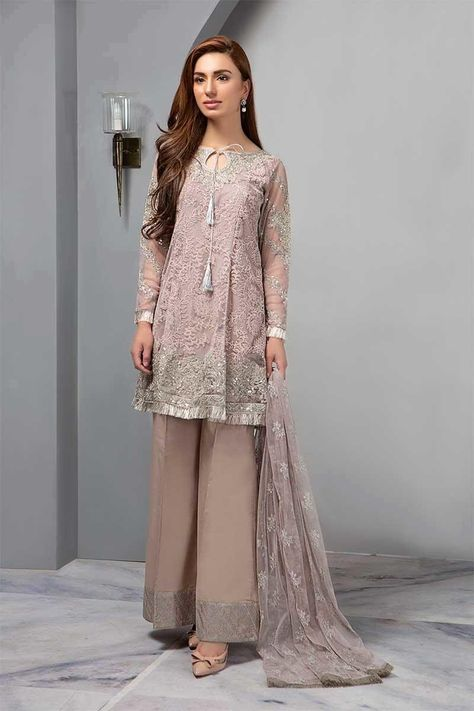 Maria B Ready to Wear Casual Collection 2019 Suit Gray