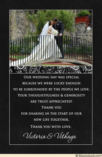 Pin by Toya Mack on Thank you notes Pinterest - wedding thank you note