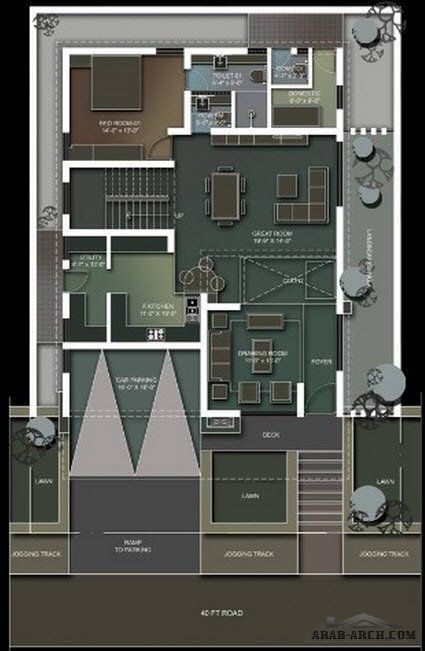 Floor Plans Of Independent Villa Model House Plan 30x40 House Plans Family House Plans